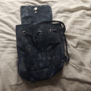 Dark wash denim bag
